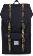 Herschel Little America Black/Woodland Camo