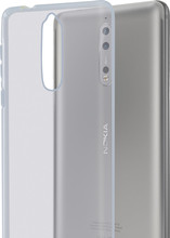 Azuri Glossy TPU Nokia 8 Back Cover Transparant