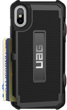 UAG Trooper Card iPhone X Back Cover Zwart
