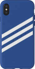 Adidas Originals Moulded Suede iPhone X Back Cover Blauw
