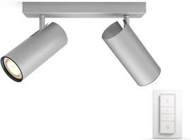 Philips Hue Buratto 2-Spot Grijs met dimmer