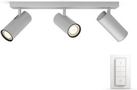 Philips Hue Buratto 3-Spot Grijs met dimmer