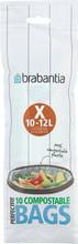 Brabantia Composteerbare Afvalzak X - 10-12 Liter (10 stuks)
