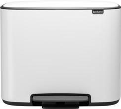 Brabantia Bo Pedal Bin 11 + 23 Liter White