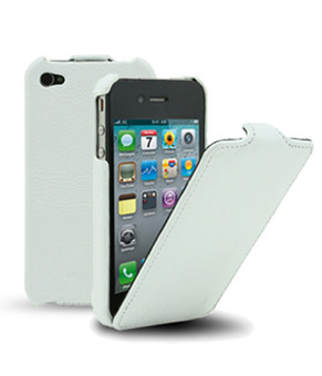 Melkco Leather Case Apple iPhone 4 / 4S Wit