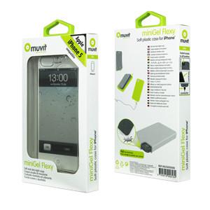 Muvit Minigel Case Apple iPhone 5/5S/SE Transparant