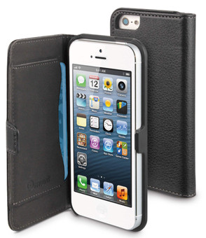 Muvit Folio Slim Case with Cardslot Apple iPhone 5/5S/SE Black