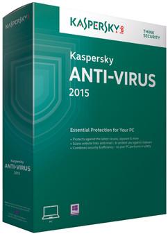 Kaspersky Anti-Virus 2015 1 Jaar 3 gebruikers