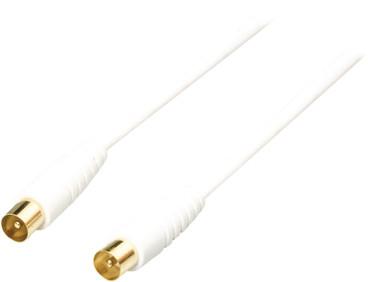 Bandridge Digitale Coax Antennekabel Male - Male 2 meter Wit