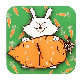 JP4KIDS Wandklok Geschilderd Rabbit