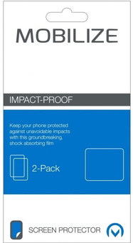 Mobilize Impact Proof Screenprotector BlackBerry DTEK50 Duo Pack