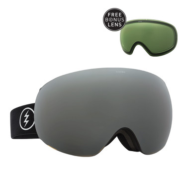 Electric EG3 Gloss Black + Bronze Silver Chrome & Light Green Lenzen