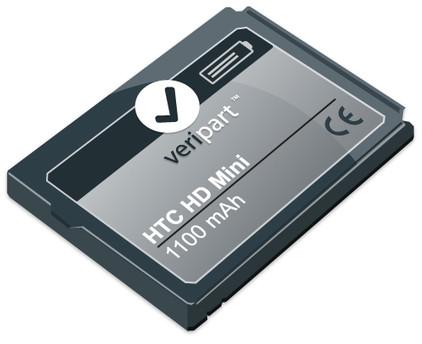 Veripart Battery HTC HD Mini 1100 mAh + Thuislader