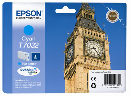 Epson T7032 Cartridge Cyaan L (C13T70324010)