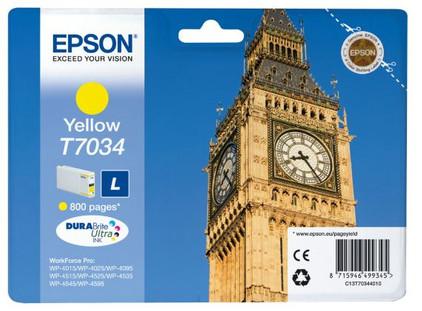 Epson T7034 Cartridge Geel L (C13T70344010)