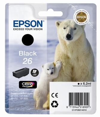 Epson 26 Cartridge Zwart L (C13T26014010)