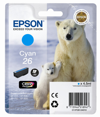 Epson 26 L Cartridge Cyaan (C13T26124010)