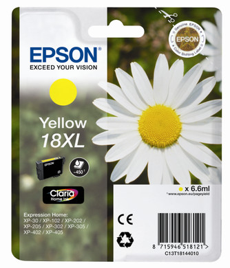 Epson 18 XL Inktcartridge Geel C13T18144010