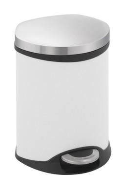 EKO Pedaalemmer Schelp 6 Liter Wit