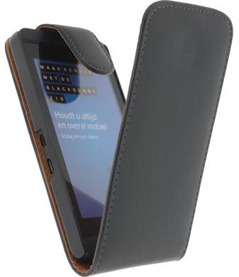 Xccess Leather Flip Case BlackBerry Z10 Zwart