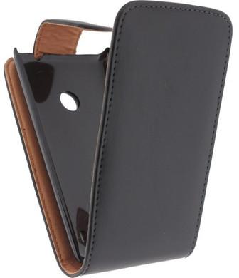 Xccess Leather Flip Case Nokia Lumia 520 Zwart
