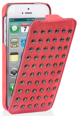 Decoded Flip Case With Studs Apple iPhone 4/4S Roze