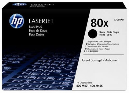 HP 80X LaserJet Toner Zwart Dual Pack (CF280XD)