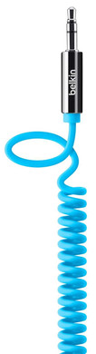 Belkin 3,5 mm Audio Kabel Coiled Straight Blue