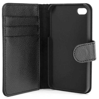 Xqisit Wallet Case Apple iPhone 4/4S Zwart