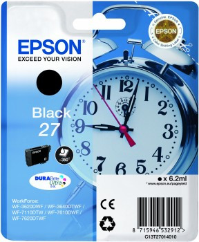 Epson 27 Cartridge Zwart C13T27014010