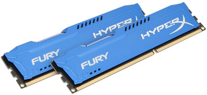 Kingston HyperX FURY 8 GB DIMM DDR3-1866 blauw 2 x 4 GB