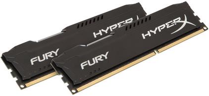 Kingston HyperX FURY 16 GB DIMM DDR3-1333 zwart 2 x 8 GB