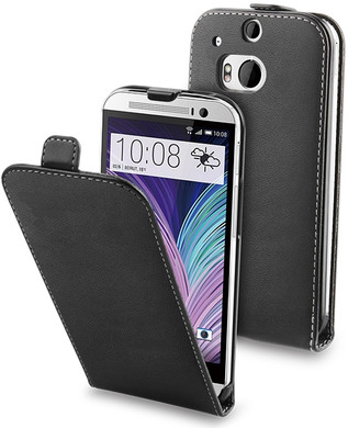Muvit Slim Case HTC One M8 Zwart