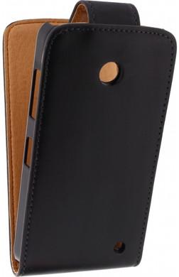 Xccess Leather Flip Case Nokia Lumia 630 / 635 Zwart