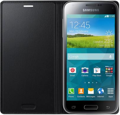 Samsung Galaxy S5 Mini Book Case Zwart