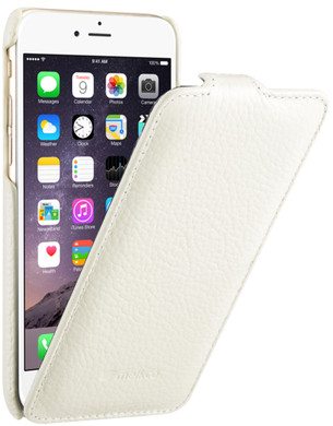 Melkco Leather Case Apple iPhone 6/6s Wit