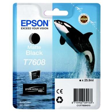 Epson T7608 Cartridge Matzwart C13T76084010