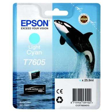 Epson T7605 Cartridge Lichtcyaan C13T76054010