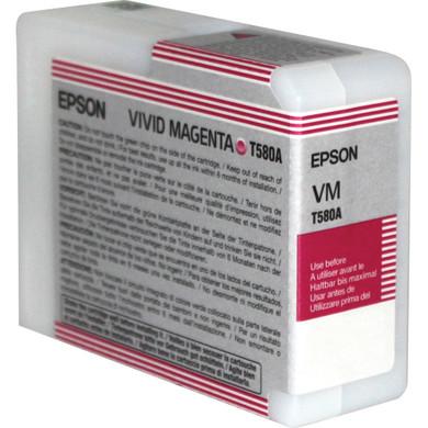 Epson T580A00 Vivid Magenta Ink Cartridge (helder rood) C13T580A00