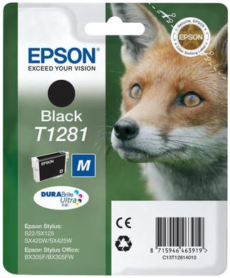 Epson T1281 Ink Cartridge Black (Zwart) C13T12814011