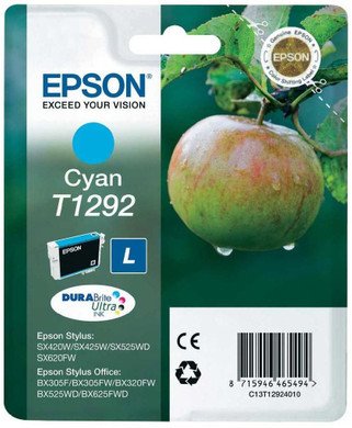 Epson T1292 Large Ink Cartridge Cyan (Blauw) C13T12924011