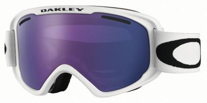 Oakley O2 XM Matte White + Violet Iridium Lens