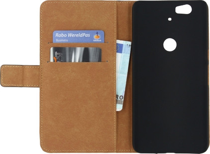 Mobilize Classic Wallet Book Case Huawei Nexus 6P Zwart