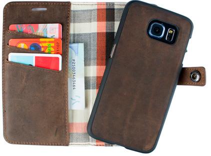 Imoshion Moyland 2 in 1 Wallet Case Samsung Galaxy S6 Bruin