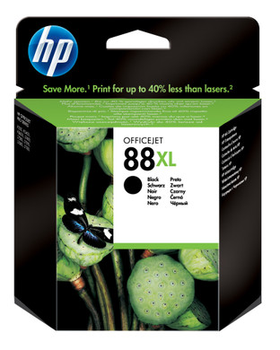 HP 88 Black XL Ink Cartridge Zwart (HPC9396A)