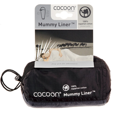 Cocoon 100% Egyptian Cotton Mummy Liner Natural