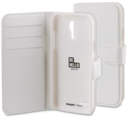 BeHello Wallet Case Samsung Galaxy S4 Mini Wit