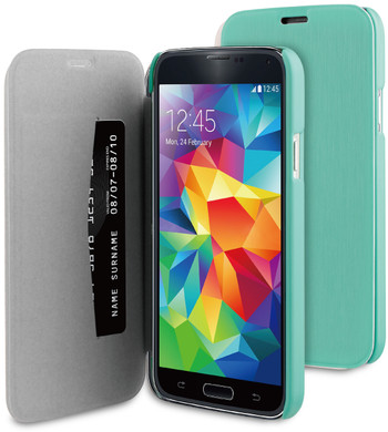 BeHello Book Case Samsung Galaxy S5 / S5 Neo Groen