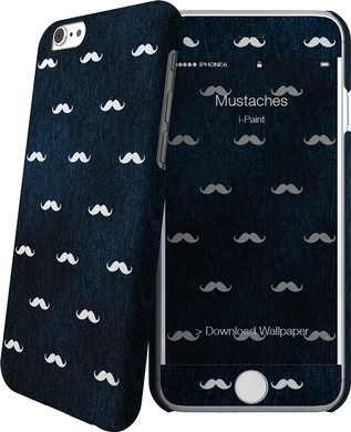 I-Paint Cover Apple iPhone 6/6s Mustaches