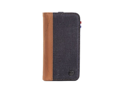 Decoded Denim Leather Wallet Apple iPhone 5/5S/SE Bruin